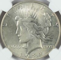 1935 PEACE DOLLAR NGC MINT STATE 62