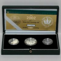 2002 GOLD PROOF HALF SOVEREIGN TO 2 TWO POUNDS COIN CASE BOX CERTIFICATE SET
