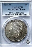1888-O MORGAN SILVER DOLLAR | PCGS EXTRA FINE 40 | DOUBLE DIE OBVERSE | NEW ORLEANS