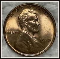 1935 1C RED LINCOLN WHEAT CENT BU