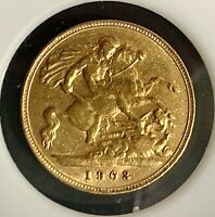 1903 EDWARD VII GREAT BRITAIN GOLD PROOF HALF 1/2 SOVEREIGN