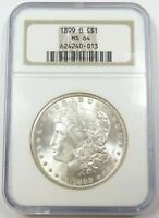 1899-O NGC MINT STATE 64 MINT STATE MORGAN SILVER DOLLAR $1 US COIN ITEM 26417A