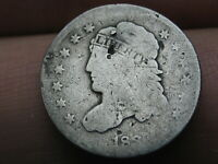 1837 CAPPED BUST HALF DIME- SMALL 5C