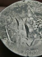 1858 THREE 3 CENT SILVER TRIME- OLD TYPE COIN