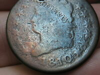 1810/09 CLASSIC HEAD LARGE CENT PENNY-  OVERDATE, S-281, GOOD/VG DETAILS