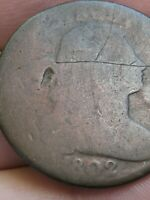 1802 DRAPED BUST LARGE CENT PENNY