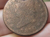 1810 CLASSIC HEAD LARGE CENT PENNY- NORMAL DATE, AG/GOOD DETAILS