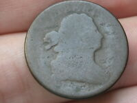 1808 DRAPED BUST HALF CENT- ABOUT GOOD DETAILS