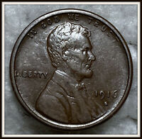 1916-S 1C LINCOLN WHEAT CENT EXTRA FINE /AU