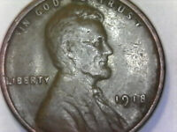 1918 LINCOLN WHEAT CENT PENNY  COIN