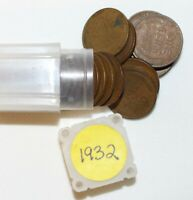 1 PARTIAL ROLL 1932 LINCOLN WHEAT CENTS 25 1C US COINS AVERAGE CIRCULATED PHILLY