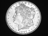 1897 MORGAN DOLLAR --- ALMOST UNCIRCULATED  --- UNDER CONSTRUCTION