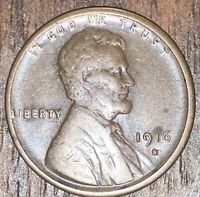 VF 1916-S LINCOLN WHEAT CENT PENNY SHIPS FREE  4955