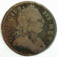 1775 BRITISH FARTHING 1/4 PENNY COLONIAL COPPER COIN GEORGE