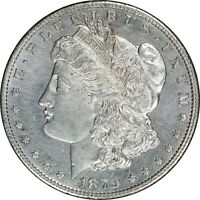 1879 S, MORGAN SILVER DOLLAR - UNC OLD CLEANING, REVERSE OF '79, VAM 26