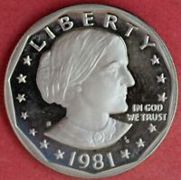 1981 S TY2 CLEAR S SUSAN B ANTHONY CH PROOF