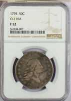 1795 US 50 CENT LIBERTY FLOWING HAIR NGC F12