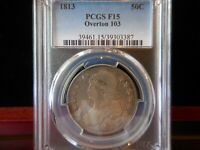 1813 CAPPED BUST HALF_PCGS F15 OVERTON 103 R 2