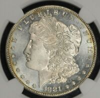 1881-P MORGAN SILVER DOLLAR NGC MINT STATE 64 STAR CAMEO PROOFLIKE PL OBVERSE
