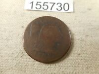 1795 LARGE CENT PLAIN EDGE CLIP   COLLECTOR GRADE ALBUM COIN -  155730