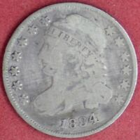 1834 CAPPED BUST 10C G DETAILS