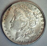 1889 MORGAN SILVER DOLLAR $1 US COIN PHILADELPHIA MINTED ALMOST UNCIRCULATED