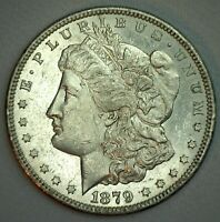 1879 S MORGAN WITH 1878 REVERSE AU SILVER DOLLAR $1 US COIN ALMOST UNCIRCULATED