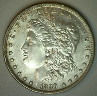 1889 O MORGAN SILVER DOLLAR ALMOST UNCIRCULATED COIN NEW ORLEANS MINTED AU $1