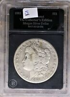 1882-S MORGAN SILVER DOLLAR, AUTHENTICATED VG COLLECTOR'S EDITION