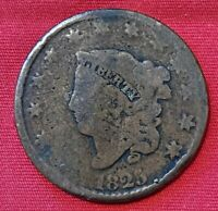 1825 US LIBERTY HEAD LARGE CENT PENNY COIN EARLY AMERICAN ANTIQUE COPPER