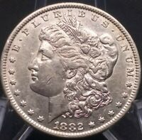 GENUINE 1882 MORGAN SILVER DOLLAR   COIN