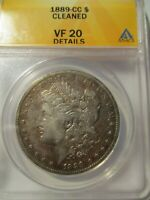 1889-CC MORGAN SILVER DOLLAR ANACS VF20
