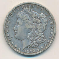 1893 O MORGAN SILVER DOLLAR. RAW
