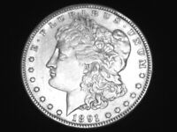 1891-S MORGAN DOLLAR --- ALMOST UNCIRCULATED DETAILS -- BUT CLEANED