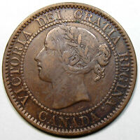 1858 CANADA LARGE CENT KEY DATE