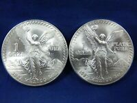 2X 1987 MO DDR 1 OZ BU SILVER ONZA LIBERTAD MEXICO BRIGHT DO