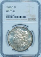1902 O NGC MINT STATE 65PL PROOFLIKE MORGAN SILVER DOLLAR