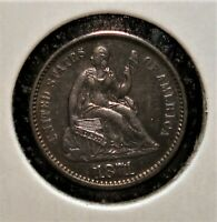1871 SILVER SEATED LIBERTY HALF DIME SHARPER DETAIL WITH RIC