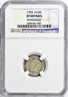 1795 FLOWING HAIR HALF DIME NGC EXTRA FINE  DETAILS