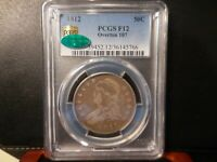 1812 PCGS F12 OVERTON 107 CAPPED BUST HALF /  CAC CERTIFIED