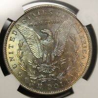 1888 P MORGAN SILVER DOLLAR MINT STATE 62 NGC GRADED GREAT TONING  COLOR TONED COIN