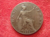 BRITISH HALF PENNY   1898      123 YEARS OLD   QUEEN VICTORI