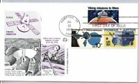 1759 VIKING MISSIONS TO MARS STAMP FIRST DAY OF ISSUE 7/20/1