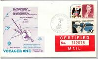 VOYAGER ONE LAUNCHED BY CENTAUR 9/5/1977 CAPE CANAVERAL SPAC