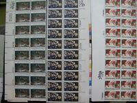 LOT OF MINT HALF SHEETS LARGE BLOCKS AND STRIPS $330  FACE M