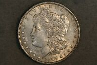 1897 $1 MORGAN SILVER DOLLAR EARLY US TYPE COIN AU ABOUT UNC BU SLIDER BWB4