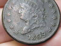 1809 CLASSIC HEAD LARGE CENT PENNY- VF/EXTRA FINE  DETAILS