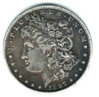 1897-O MORGAN SILVER DOLLAR. , TONED, KEY DATE. GREAT CONDITION. SAVE- C398
