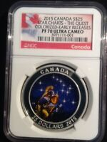 2015 CANADA S$25  STAR CHARTS THE QUEST COLORIZED  NGC  PF70  EARLY RELEASE 001