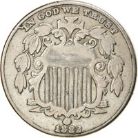[866840] COIN, UNITED STATES, SHIELD NICKEL, 5 CENTS, 1882, U.S. MINT
